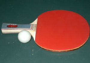 Ping Pong/Table Tennis Ball and Paddle