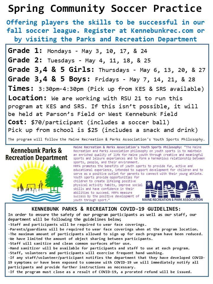 Spring Community Soccer Flyer